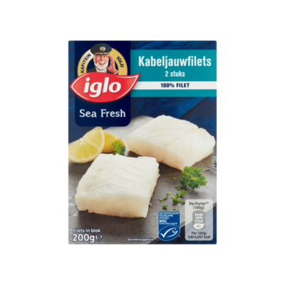 Iglo Sea Fresh Kabeljauwfilets 2 Stuks