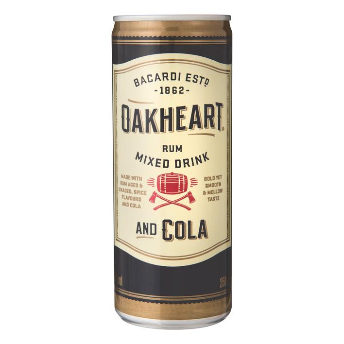 Bacardi Oakheart & cola