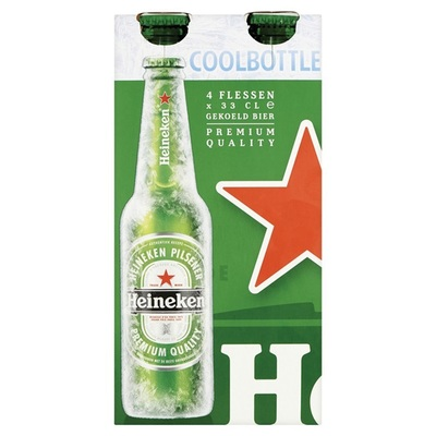Heineken Pils Coolbottle 4-pack