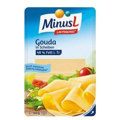 MinusL Goudse kaas plakken (lactosevrij)
