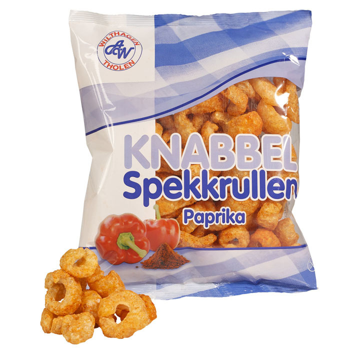 Wilthagen Knabbel spekkrullen paprika