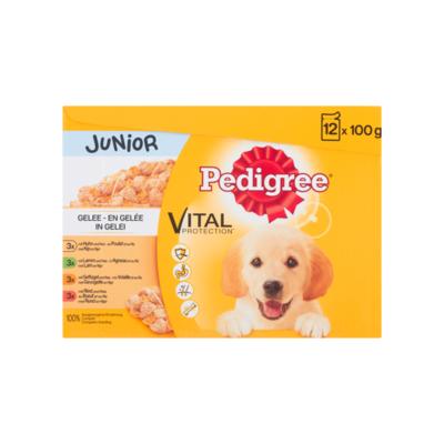 Pedigree Hondenvoer Nat Vital Protection in Gelei Junior 12 Maaltijdzakjes x