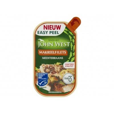 John West Makreelfilets in mediteraanse saus