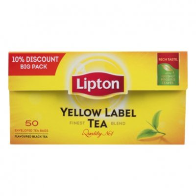 Lipton Zwarte thee yellow label