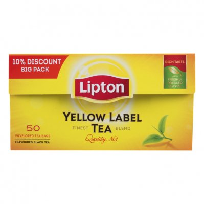 Lipton Zwarte thee yellow label