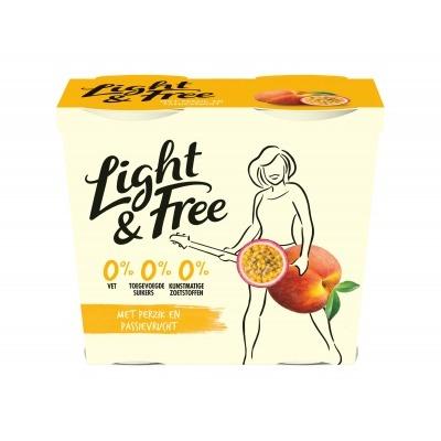 Light & free Yoghurt perzik passievrucht