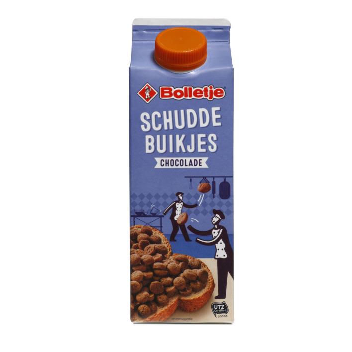 Bolletje Schuddebuikjes chocolade utz