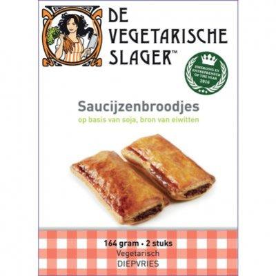Vegetarische Slager Roomboter saucijzenbroodjes soja