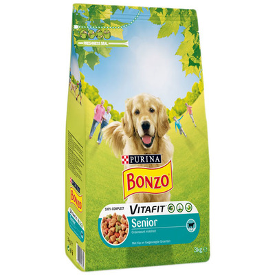 Bonzo Senior met kip