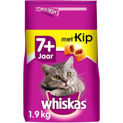 Whiskas Kattenvoer droog kip senior 7+ jaar