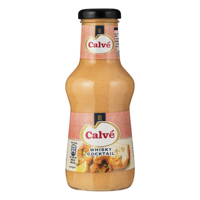 Calvé Saus fles whisky cocktail